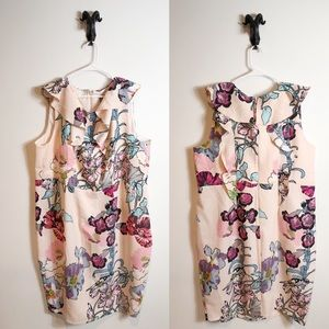 ASOS Curve Pink Floral Dress Size 22